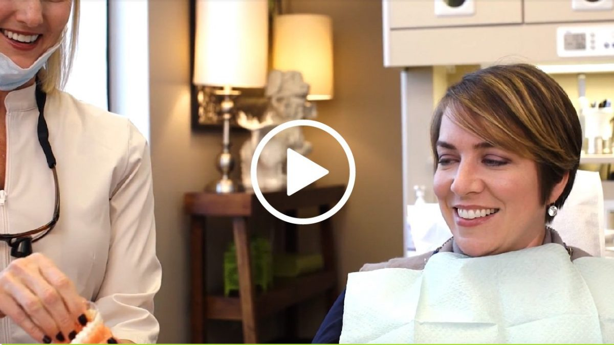 Patient being shown Invisalign